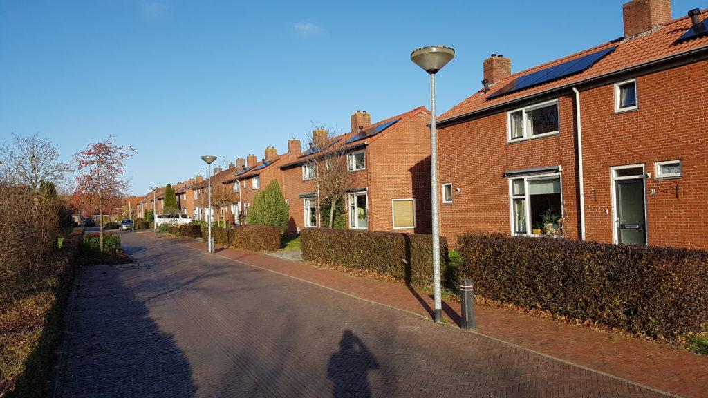 De geplaatste zonnepanelen